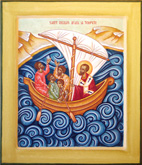 St Nicholas banishing the storm